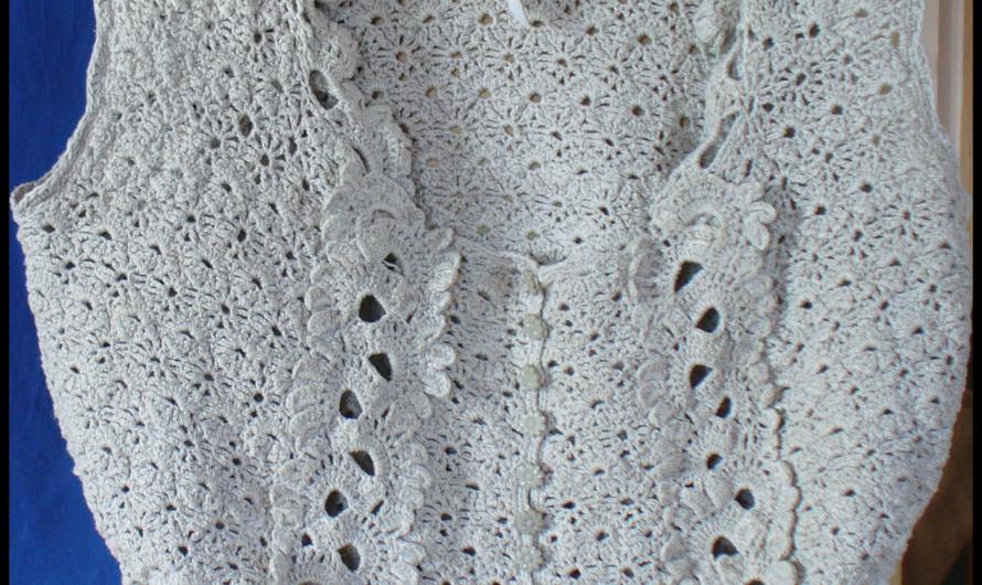 Кофточка из льна, связанная крючком