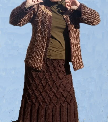Жакет а-ля Шанель и юбка аранами