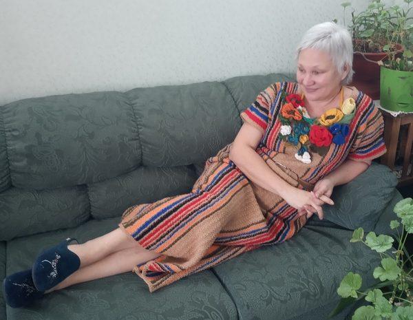 Платье полосатое (домашнее)
