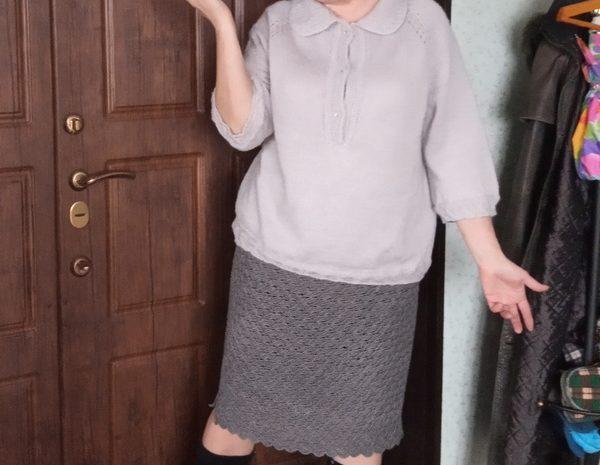 Женская кофточка с отложным воротничком
